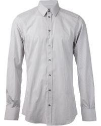 Dolce & Gabbana Fine Striped Shirt - Lyst