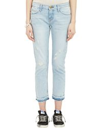 Current/Elliott The Cropped Straight Jeans - Lyst