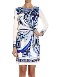 Emilio Pucci Dress Long Sleeve Silk With Butterfly Print - Lyst