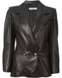 Yves Saint Laurent Vintage Double Breasted Jacket - Lyst