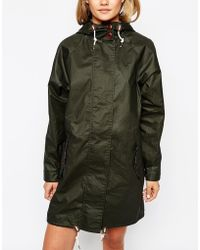 Fred Perry Parka With Fish Tail - Green