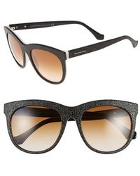 Balenciaga 54Mm Textured Sunglasses black - Lyst