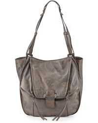 Kooba Zoey Distressed Metallic Leather Tote Bag - Lyst