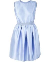 Carven Blue Taffeta Mini Dress - Lyst