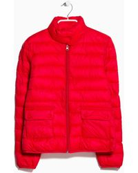 Mango Foldable Feather Down Jacket - Lyst