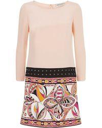 Emilio Pucci Laced Silk Tunic Dress - Lyst