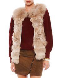 Jocelyn Lamb and Rabbit Sectioned Fur Vest - Lyst