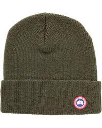 Lyst - Canada Goose Merino Wool Watch Cap in Green for Men 8aceaa7dbb22