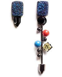 Assad Mounser - Geometric Crystal Gemstone Stud Earrings - Lyst