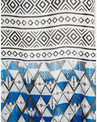 Asos Long Printed Kimono Scarf - Lyst