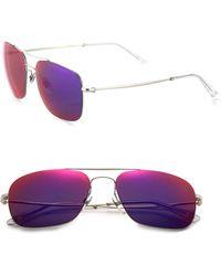 Gucci | Mirrored 58mm Square Sunglasses | Lyst