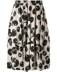 Comme des Garçons Pleated Star Print Skirt - Lyst