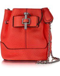 Carven - Malher Petit Sanguine Leather Bucket Bag - Lyst
