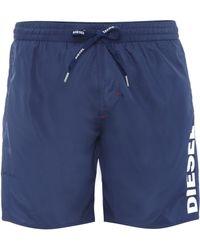 Diesel Logo Mid Length Swim Short - Lyst