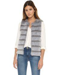Joie Andrina Faux Fur Vest - Grey