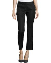 Diane Von Furstenberg Center-seam Ankle Slim Pants - Lyst