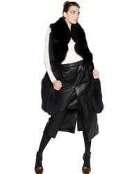 Sonia Rykiel - Oversized Fox Fur Vest - Lyst