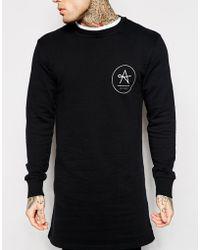 Antioch Super Longline Sweatshirt - Black
