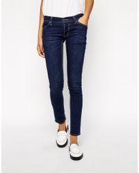 Cheap Monday Dark Blue Narrow Jeans - Lyst