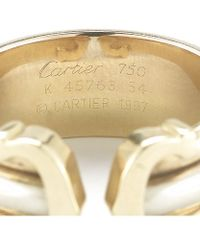 Cartier Pre-owned Double C Ring - Lyst