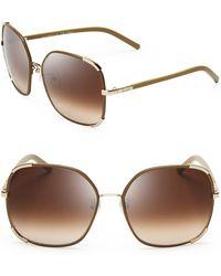 Chloé Nerine Sunglasses, 58mm - Metallic