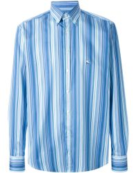 Etro Striped Button Down Shirt - Lyst