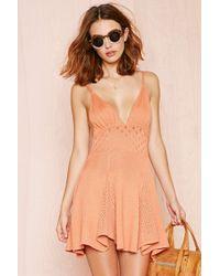 Nasty Gal For Love & Lemons Dolly Knit Dress orange - Lyst