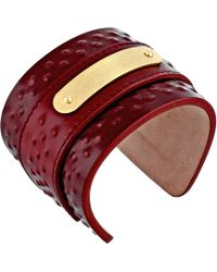 Alexander McQueen Covered Studs Leather Cuff - Lyst