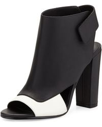 Vince Agatha Open-Toe Bootie - Lyst