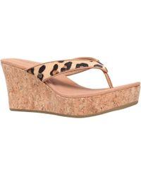 UGG - Natassia Wedge Heeled Toe Post Sandals - Lyst