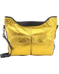 L.A.M.B. Gold Metallic Leather 'Glad' Utility Messenger Bag gold - Lyst
