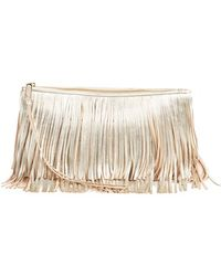 Rebecca Minkoff 'Large Finn' Clutch - Metallic - Lyst
