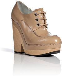 Jil Sander Leather Lace-Up Boots - Lyst