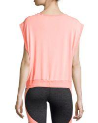 Pink Lotus - Sleeveless Bateau-neck Sweatshirt - Lyst