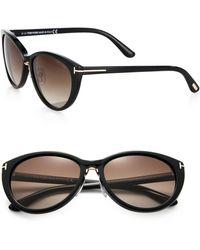 Tom Ford Gina Cat'S-Eye Sunglasses - Lyst