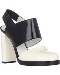 Jil Sander Colorblack Slingback Sandals - Lyst