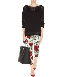 Dolce & Gabbana Floral-Printed Crepe Trousers floral - Lyst