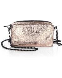 Loeffler Randall Crinkled Metallic Leather Pouch Shoulder Bag - Lyst