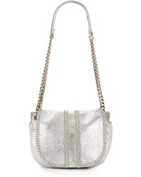 Ramy Brook - Nar Whipstitched Metallic Leather Saddle Bag - Lyst
