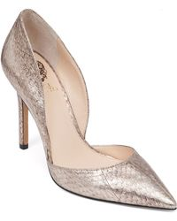 Vince Camuto Court Shoes - Rowin Metallic Snakeskin