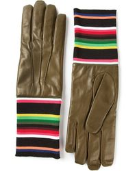 Raf Simons Multicoloured Ribbed Gloves - Lyst