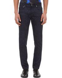 Christopher Kane Snakeskinprint Narrowfit Jeans - Lyst