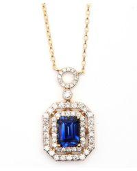 Vendoro - Tanzanite And Diamond Pendant Necklace - Lyst