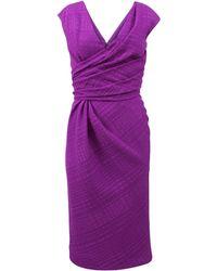 Oscar de la Renta V-Neck Pencil Dress - Lyst