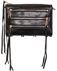 Rebecca Minkoff Mini 5 Zip Leather Bag - Lyst