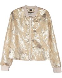 By Malene Birger Victorie Gold Bomber Jacket - Lyst