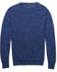 A.P.C. Mã©Lange Merino Wool Sweater - Lyst