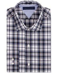 Tommy Hilfiger Slim-fit Royal Check Dress Shirt - Lyst