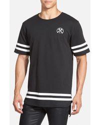 Civil Regime - 'hi Low Extender' T-shirt - Lyst