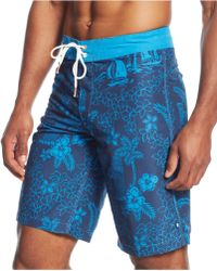 Sperry Top-sider Tiki Party Printed Board Shorts - Lyst
